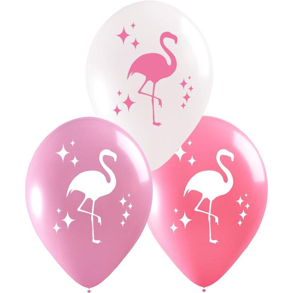 Шары с фламинго