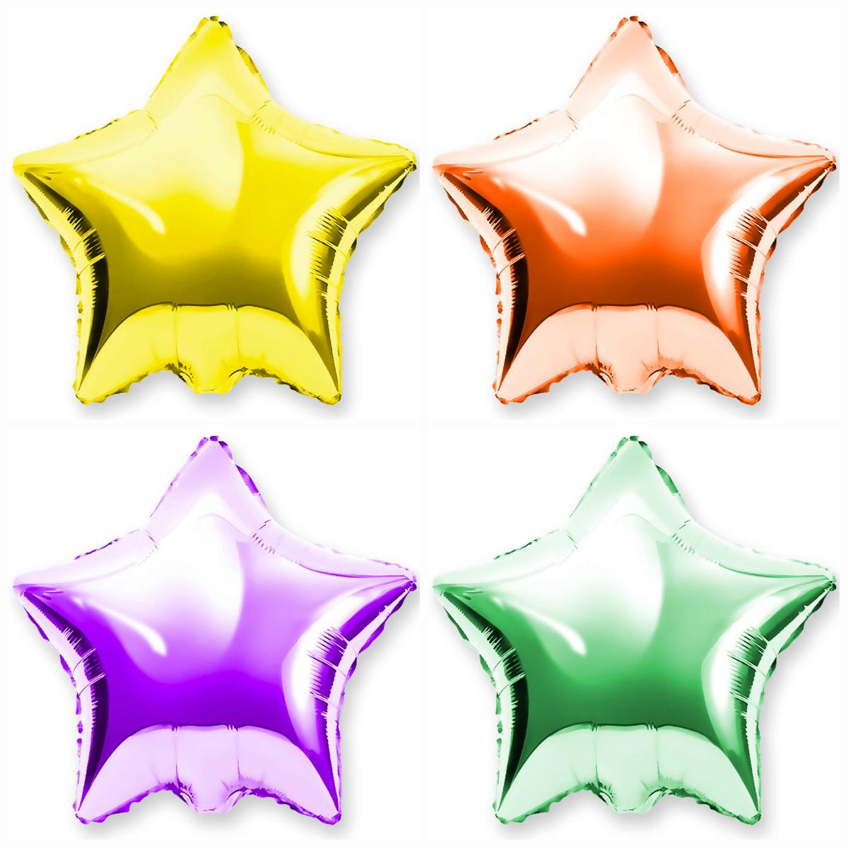 Фольгированные шары-звездочки