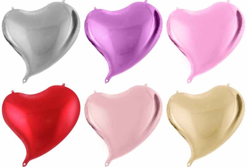 фольгированные шары изогнутое сердце