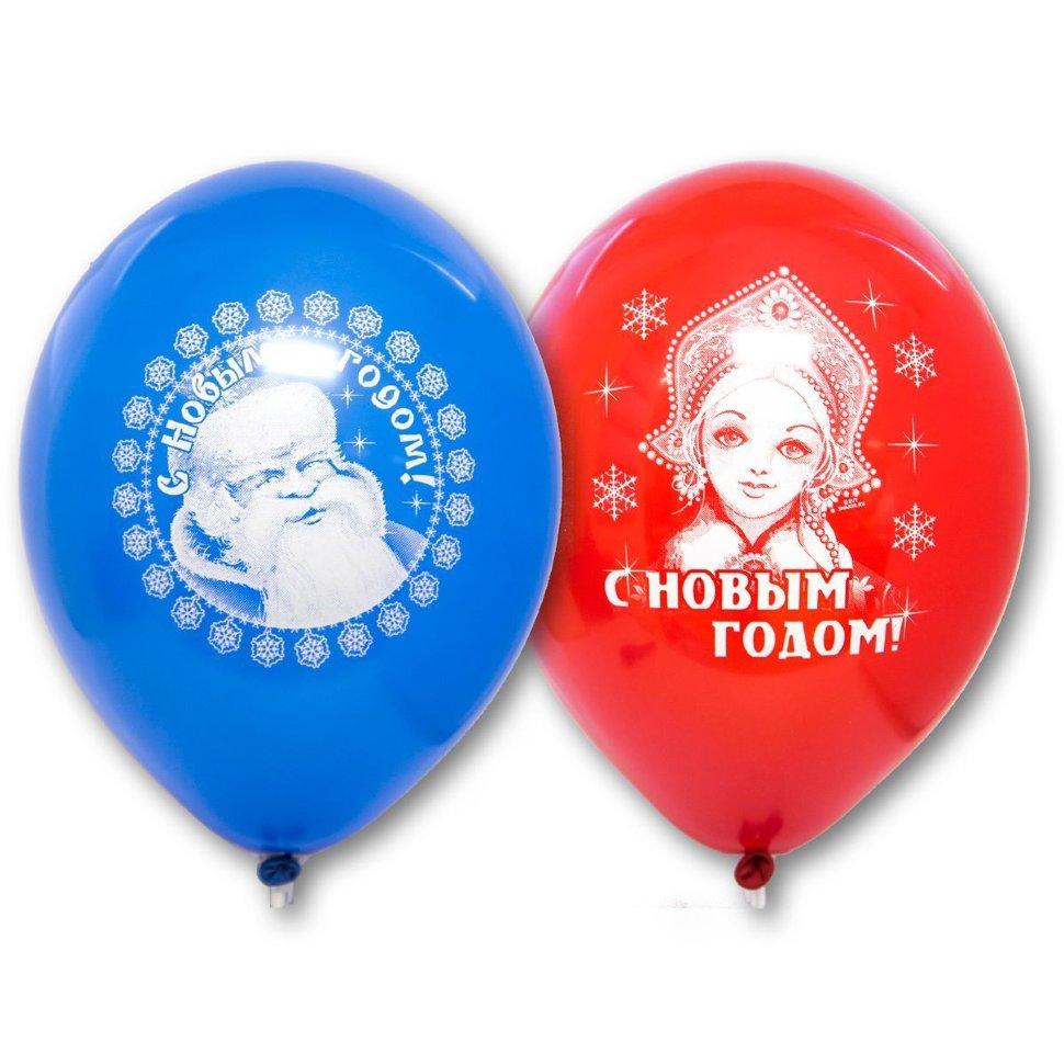 Воздушные шары с дедом морозом и снегурочкой
