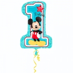 Шар Цифра, Микки 1й День рождения / Mickey 1st Birthday